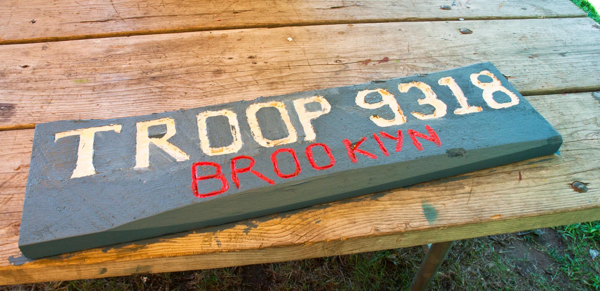 Troop9318 Wood Sign