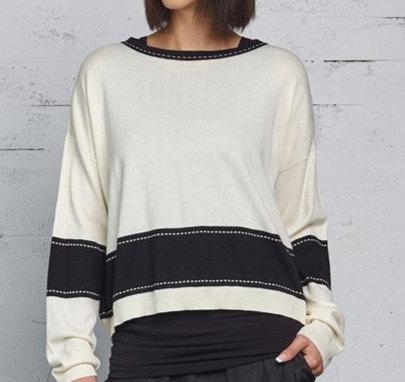 PLANET Style Film Strip Pima Sweater