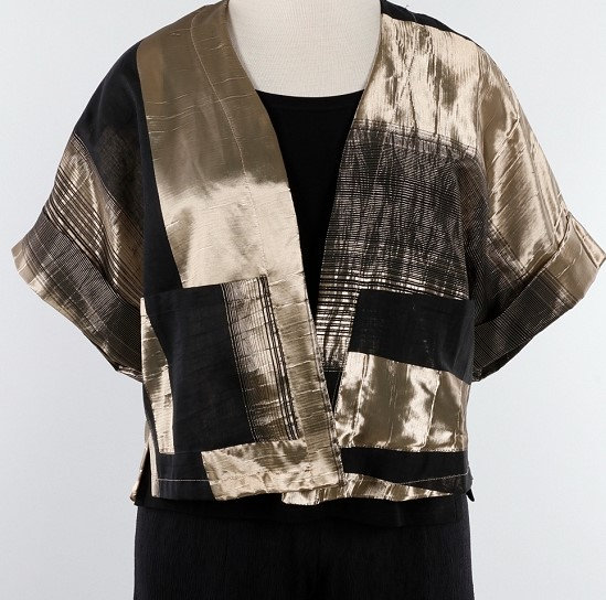 Alembika Crop Kimono Jacket - Gold