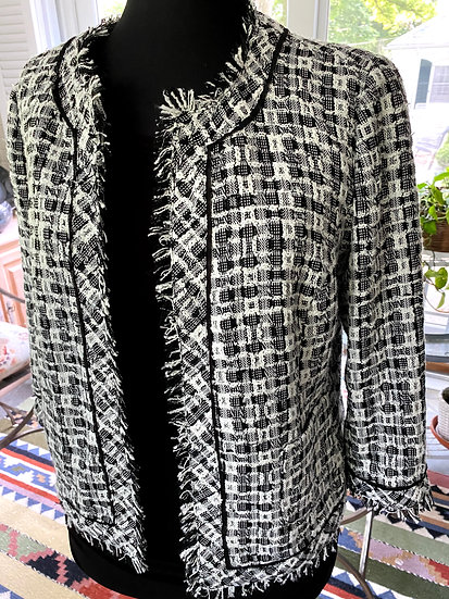 CONRAD C Soft Sparkle Tweed Jacket