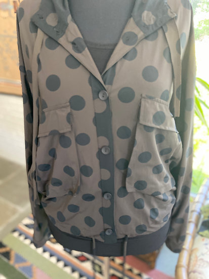 Alembika Polka Dot Jacket with hood - Limited Quantity