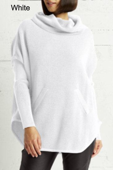 PLANET Pima Cotton Waffle Cowl Sweater
