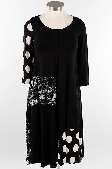 Alembika Mix Media Dress - Black