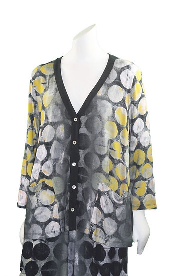 Alembika Bee Hive Button Front Cardigan