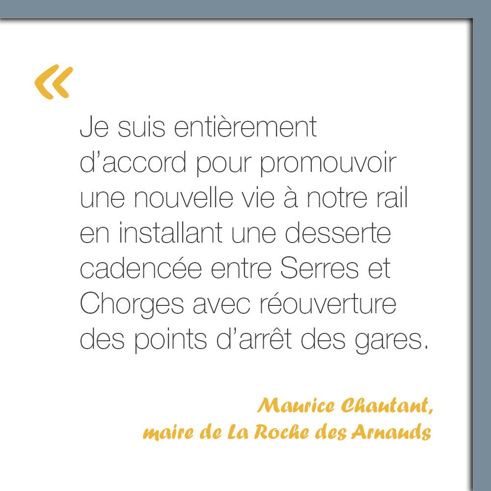 Maurice Chautant, maire de La Roche des Arnauds