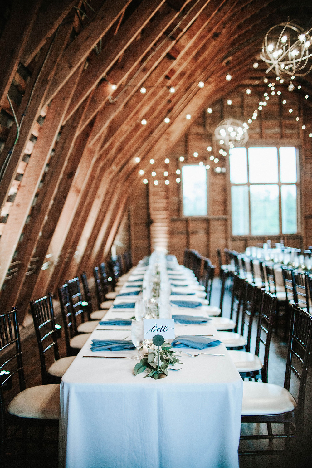 Barn Wedding with Lighting