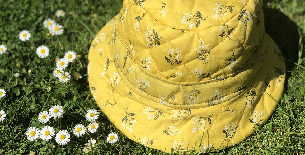 Summer's End Bucket Hat / Daffodil Yellow