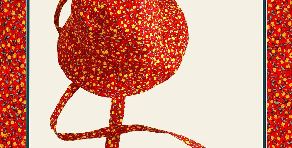 Summer's End Bucket Hat / Sunflower Red