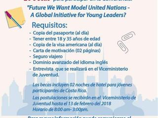 El Viceministerio de Juventud ofrece becas para Conferencia en New York City, USA