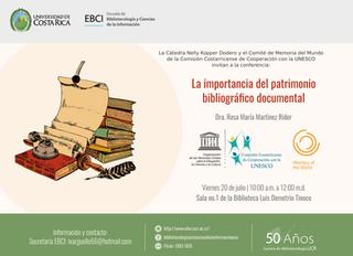 """Conferencia """"La Importancia del Patrimonio Documental """""""