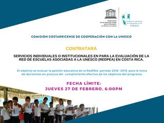 CCCU REABRE CONCURSO PARA CONTRATACIÓN DIRECTA DE CONSULTORÍA INDIVIDUAL O INSTITUCIONAL PARA EVALUA