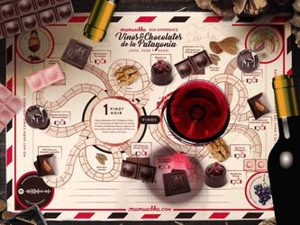 Juego de mesa: vinos y chocolates