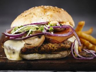 Receta: hamburguesa veggie con mayonesa de zanahorias