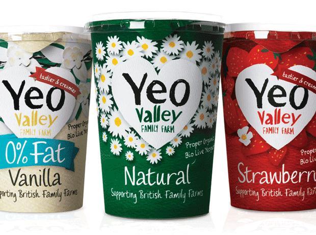 Yeo Valley yogurts