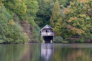 20161019 - Boathouse autumn reflection -