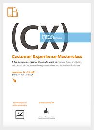 CX Masterclass brochure Nov 2021
