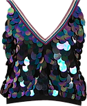 Sequin V Neck Top.png