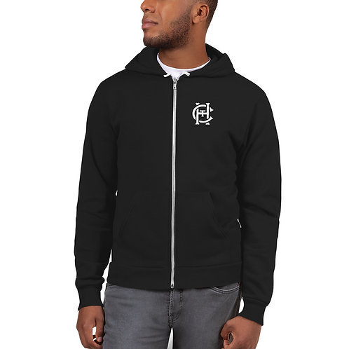 HCT Left Chest | Unisex American Apparel Zip Up Hoodie