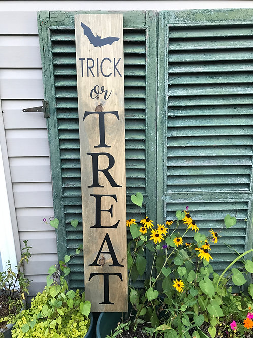 Board Art Porch Sign- Trick Or Treat