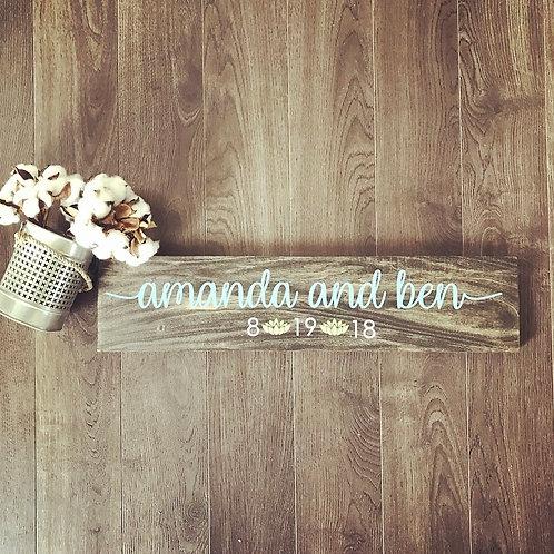 Board Art - Wedding Date