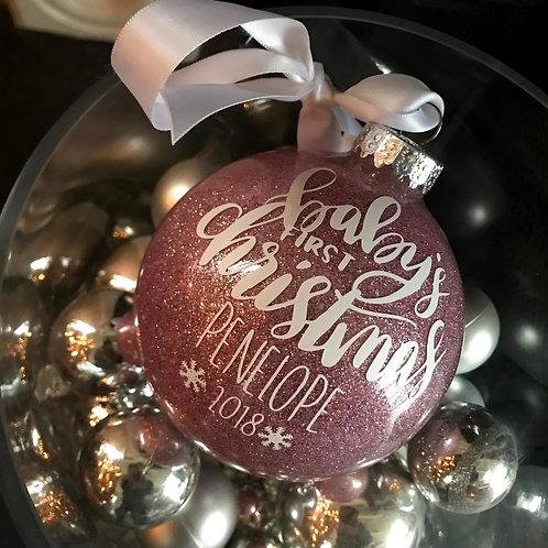 Baby Glass Ball Ornament