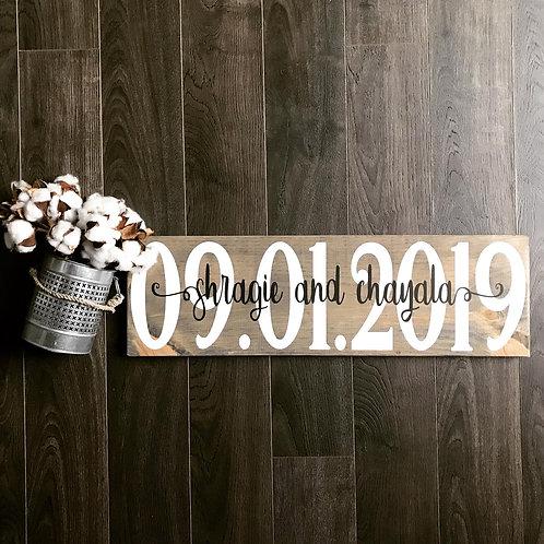 Board Art - Wedding Date BOLD