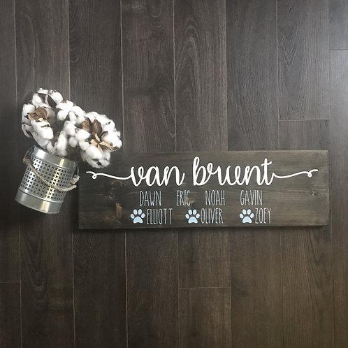 Board Art - Last name/Family