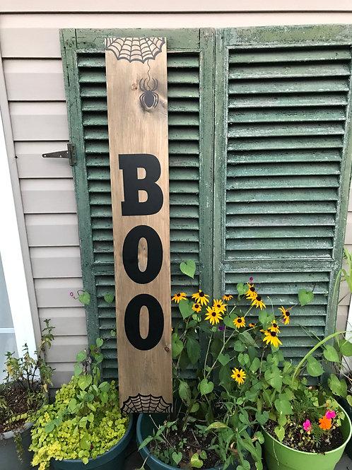 Board Art Porch Sign - BOO