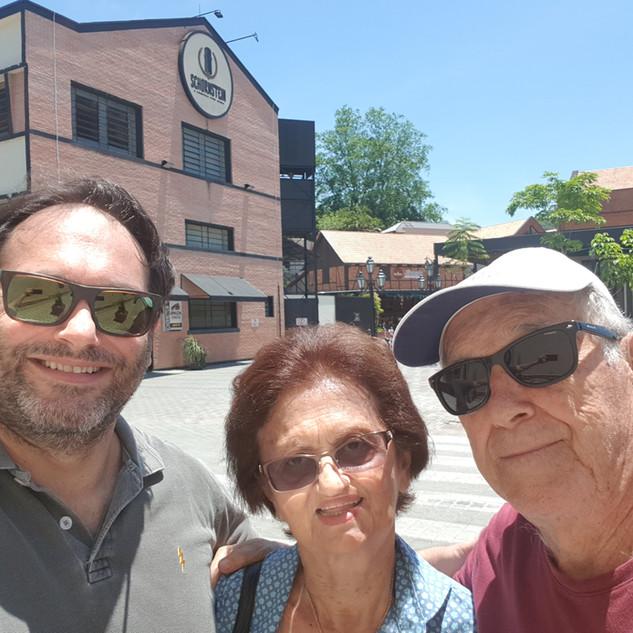 Com meus pais em Pomerode - SC