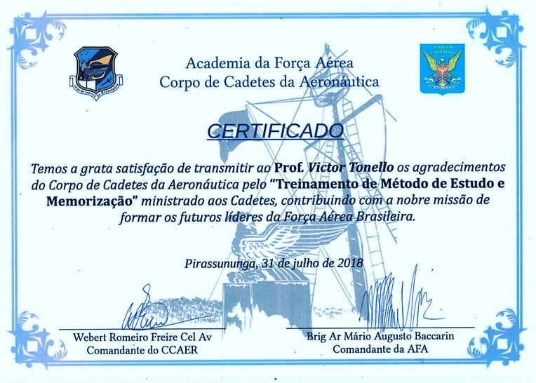 certificado AFA - Victor Tonello 2018 (1