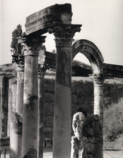 Villa Adriana Statues under Arches
