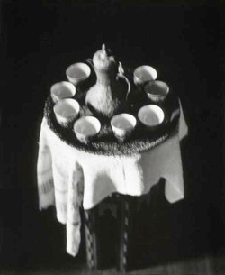 Olana, Tea Set on Table