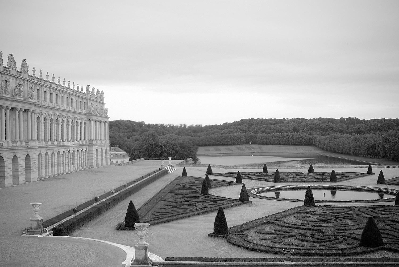 Versailles B&W landscape