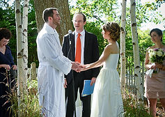 Officiant at a wedding