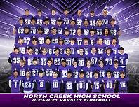 North Creek 20-21 Football Varsity 8x10e