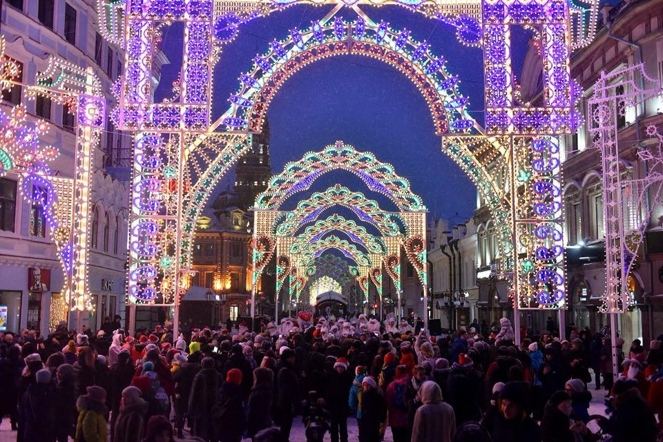 Our Christmas lights in Kazan 2018