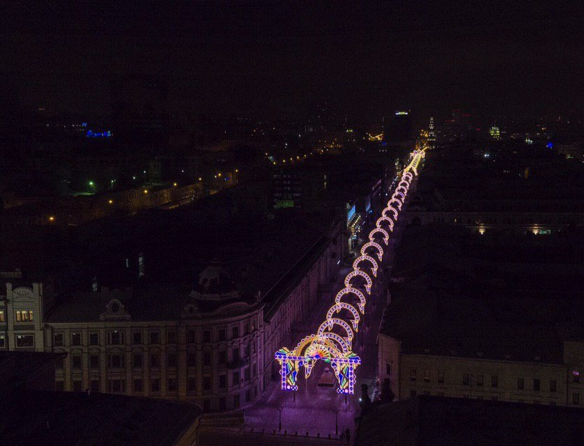 Our Christmas lights in Kazan 2018