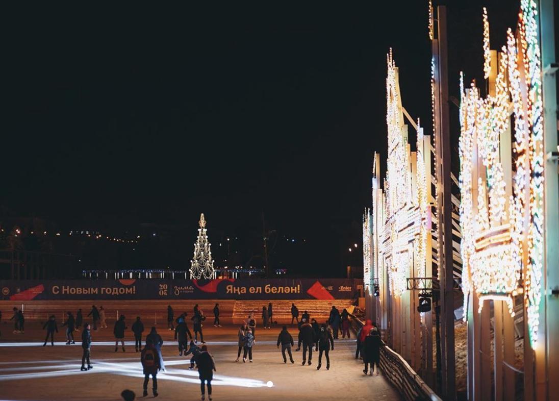 Our Christmas lights in Kazan 2019