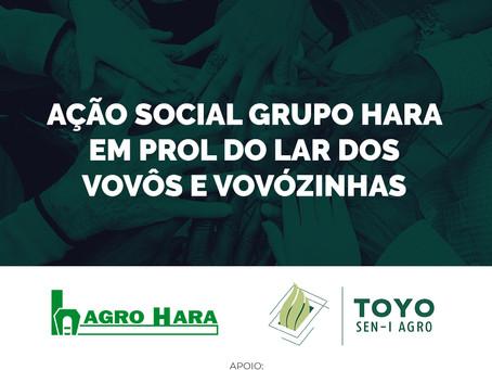 Grupo Hara promove ação social em prol do Lar dos Vovôs e Vovózinhas