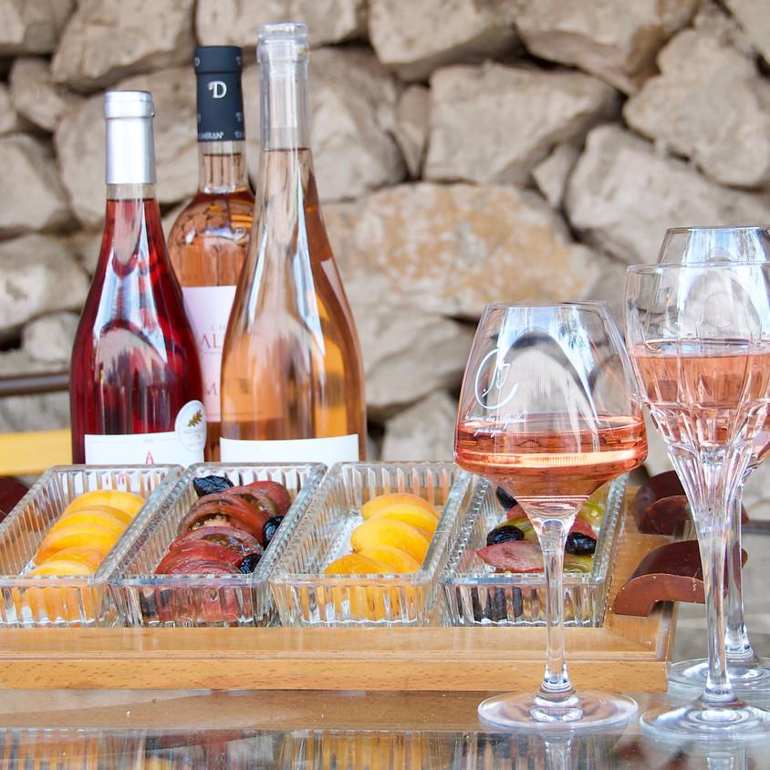 dégustation des rosés de l'été en terrasse