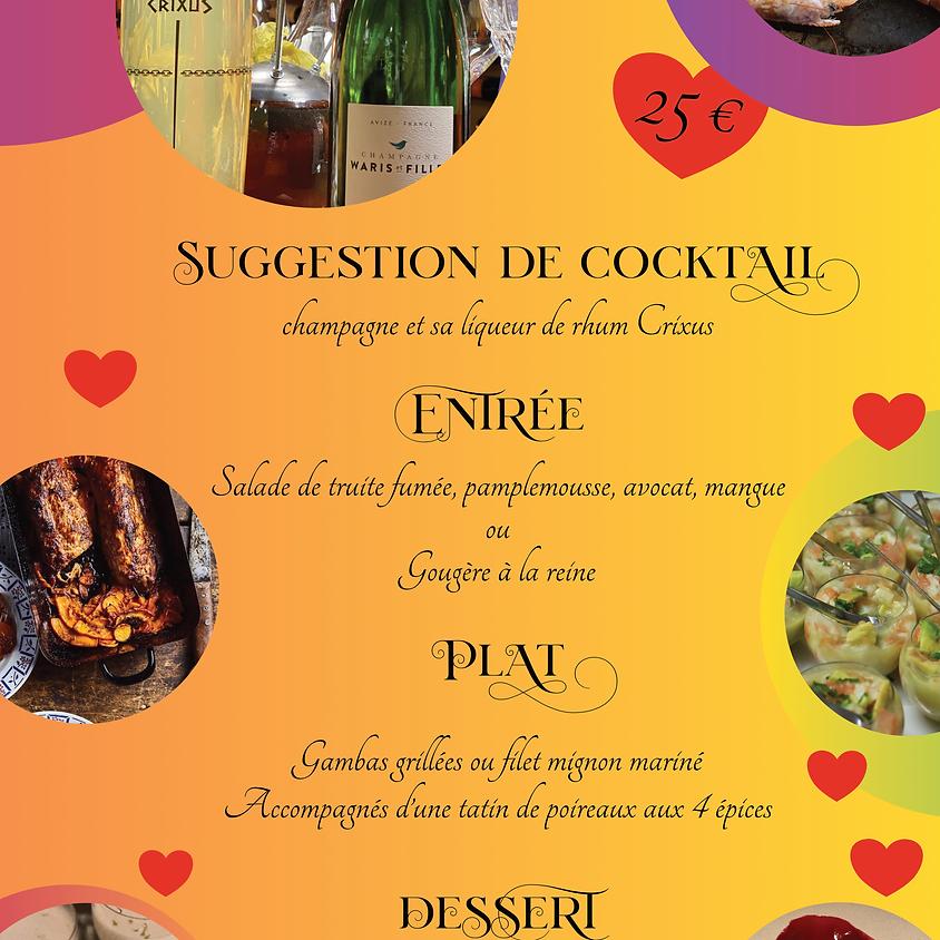 votre menu de la Saint Valentin