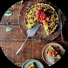 vin et tarte aux légumes