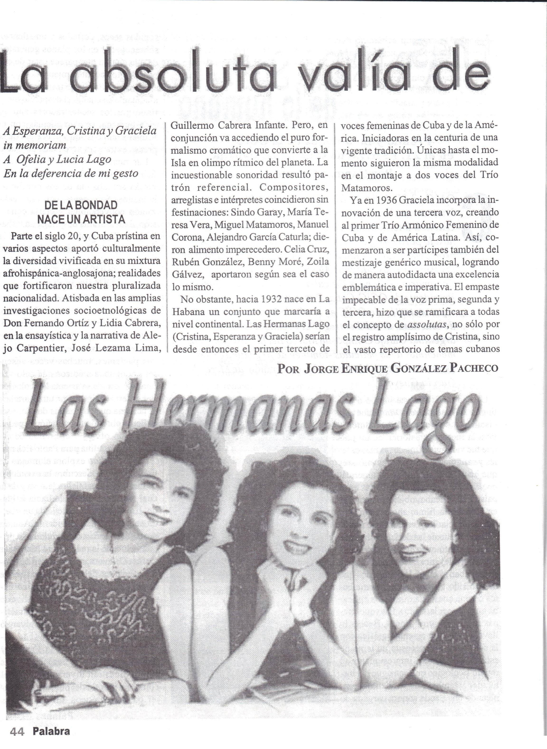 Revista Palabra Nueva, 2000, Cuba