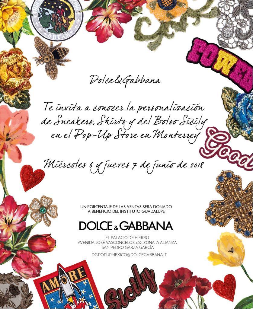 Te invitamos este miércoles 6 y jueves 7 de junio a conocer los nuevos productos de la presitgiosa marca italiana Dolce Gabbana en el Palacio de Hierro San Pedro y a su vez apoyar nuestra causa