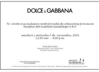 CAMBIO DE FECHA EVENTO DOLCE GABBANA
