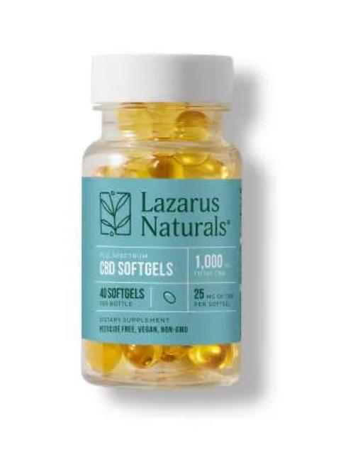 Lazarus Naturals 25mg CBD Softgels