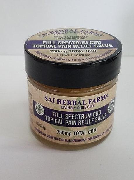 SAI Herbal Farms Full Spectrum CBD Topical Pain Relief Salve