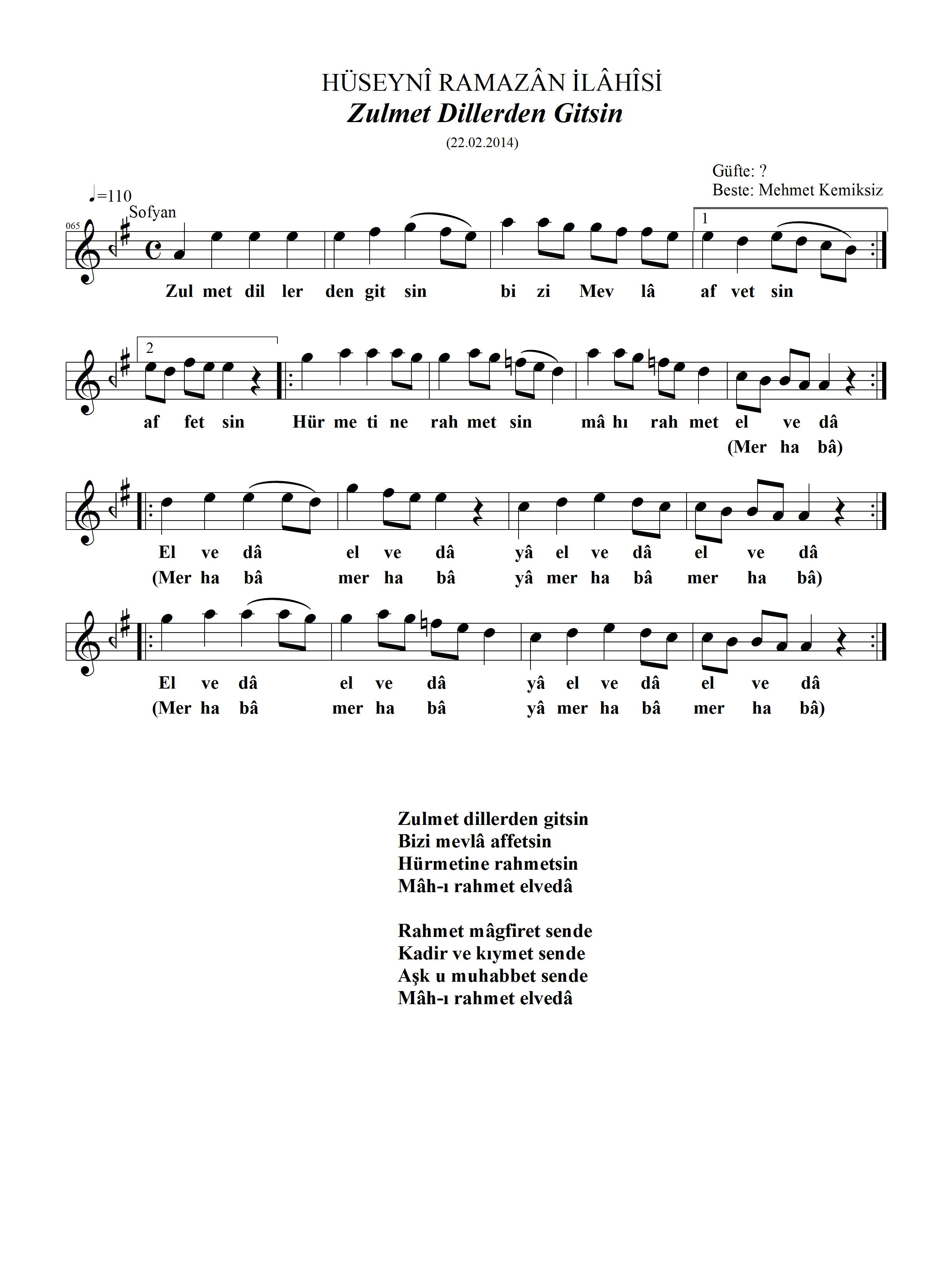 065-Huseyni-Zulmet Dillerden Gitsin