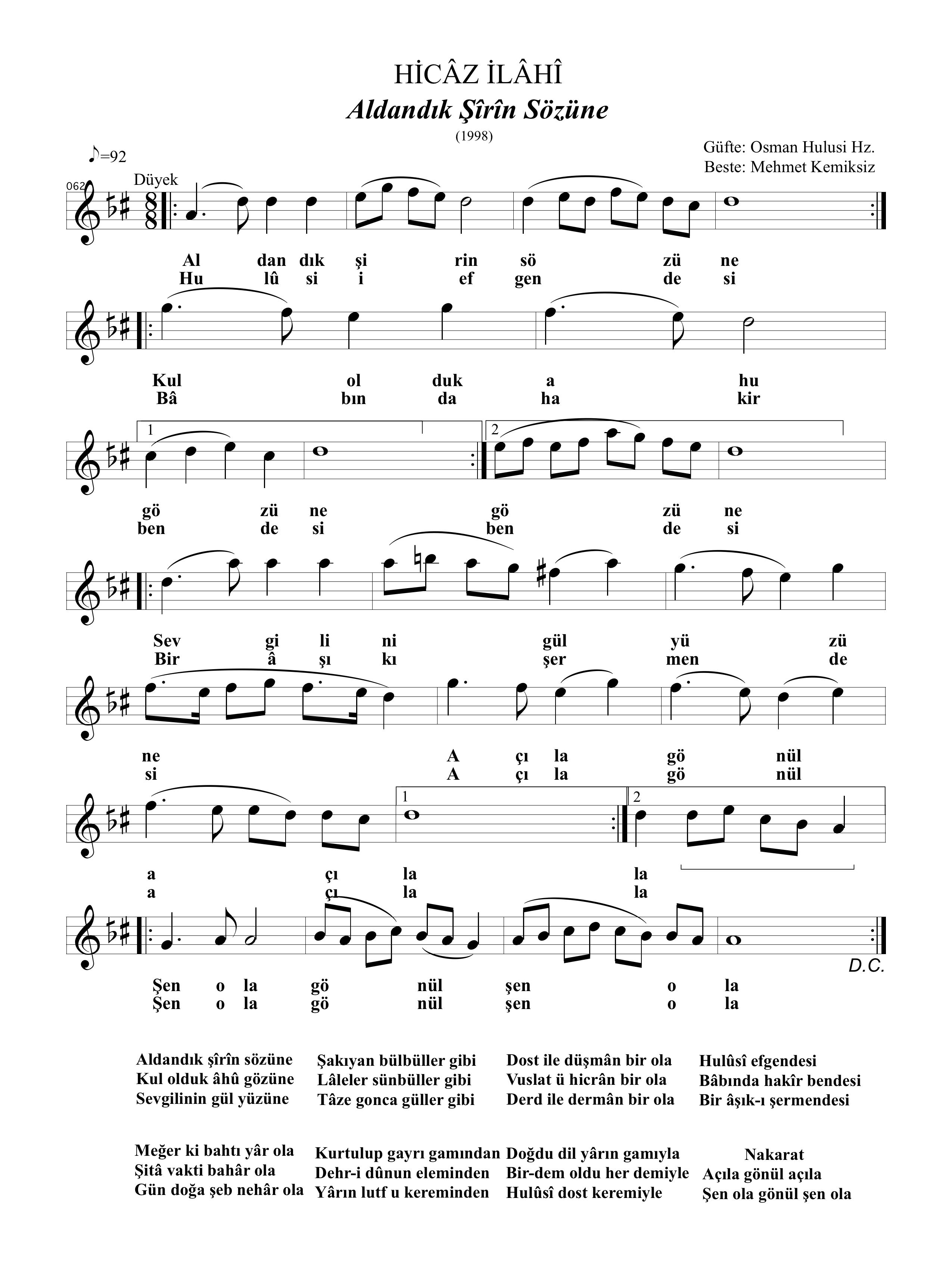 062-Hicaz-Aldandik Sirin Sozune