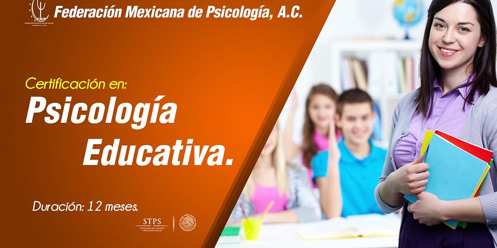 CERTIFICACIÓN EN PSICOLOGÍA EDUCATIVA.
